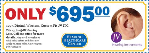 Hearing Aids - Hearing Healthcare Center - Valuable Coupons